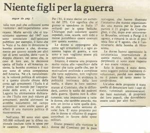 armi quotidiano donna articolo herstory  femminismo luoghi storia gruppi Roma