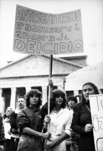 manifestazione delle donne antisemitismo Archivia Herstory femminismo a roma e Lazio