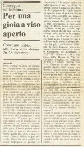 Collegamento lesbiche italiane convegno quotidiano donna herstory  femminismo luoghi donne storia gruppi Roma