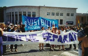 manifestazione delle donne world pride Archivia Herstory femminismo a roma e Lazio