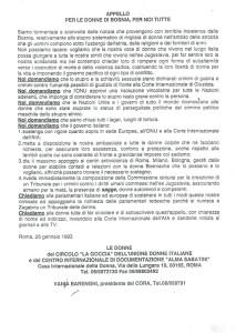 Orientamento lavoro Retravailler appello donne bosnia herstory  femminismo storia gruppi Roma
