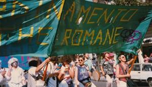 gay pride coordinamento lesbiche romane CFS herstory  luoghi collettivi gruppi donne Roma