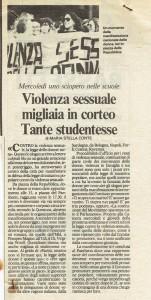 manifestazione legge violenza sessuale  repubblica CFS  centro separatista herstory  femministe lesbiche  luoghi collettivi gruppi Roma