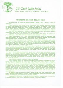 Club donne manifesto herstory  femministe  luoghi storia collettivi manifestazioni gruppi Roma