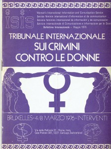 Isis Servizio internazionale informazione e comunicazione bollettino herstory  femminismo luoghi donne storia gruppi Roma