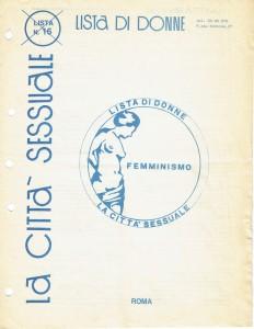 lista candidate CFS  centro separatista comitato femminista giustizia herstory  lesbiche  luoghi collettivi gruppi Roma