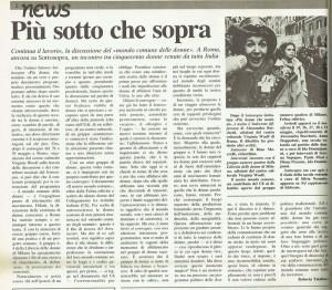 Collegamento lesbiche italiane noidonne herstory  femminismo luoghi donne storia gruppi Roma