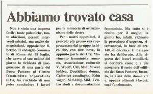 Centro femminista separatista CFS assegnazione noidonne herstory  femministe lesbiche  luoghi collettivi gruppi Roma