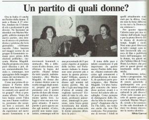 Partito delle donne nascita articolo noidonne herstory  femminismo luoghi donne storia gruppi Roma