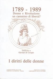 Circolo Udi La goccia diritti volantino herstory  femminismo luoghi donne storia collettivi manifestazioni gruppi Roma