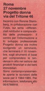 Progetto donna attività noidonne herstory  femminismo luoghi donne storia gruppi Roma