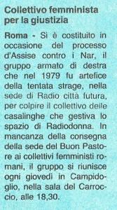 CFS  centro separatista comitato femminista giustizia herstory  lesbiche  luoghi collettivi gruppi Roma