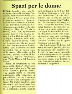 Centro femminista separatista inaugurazione CFS herstory  femministe lesbiche  luoghi collettivi gruppi Roma 5