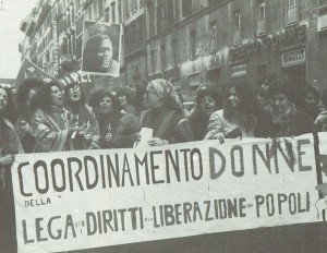 Coordinamento donne herstory  femminismo donne storia collettivi manifestazioni gruppi