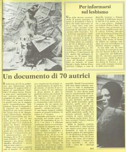 Cli lesbiche herstory  femminismo luoghi donne storia gruppi Roma