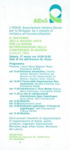 Associazione italiana donne sviluppo incontro herstory  femminismo luoghi donne storia gruppi Roma