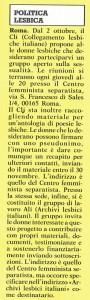 Cli collegamento lesbiche noidonne herstory  femminismo luoghi donne storia gruppi Roma