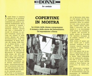 copertine in mostra  Centro Femminista Internazionale herstory  luoghi donne storia gruppi Roma