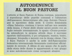 autodenunce occupazione buon pastore Femminista herstory  luoghi donne storia gruppi Roma