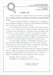 comunicato legge violenza sessuale  CFS  centro separatista herstory  femministe lesbiche  luoghi collettivi gruppi Roma