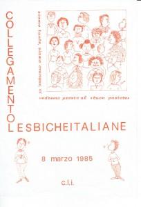 Cli lesbiche cfs herstory  femminismo luoghi donne storia gruppi Roma