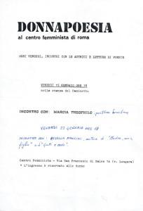 locandina donna poesia buon pastore herstory  mappa luoghi storia gruppi femminismo Roma