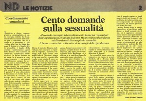 Convegno Donne herstory  femminismo luoghi storia gruppi Roma