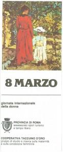 Cooperativa Taccuino oro 8 marzo herstory  femminismo luoghi donne storia gruppi Roma