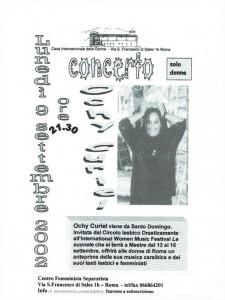 concerto CFS centro femminista herstory separatismo luoghi collettivi gruppi donne Roma