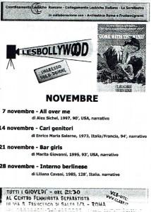 rassegna cinema lesbollywood coordinamento lesbiche romane CFS herstory  luoghi collettivi gruppi donne Roma