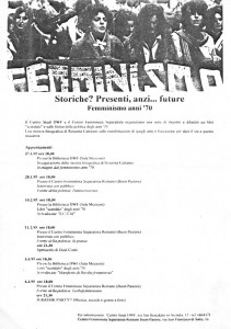 CFS  centro separatista femminista herstory  lesbiche  luoghi collettivi gruppi Roma