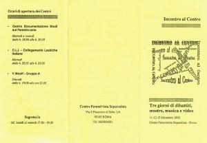 programma CFS  centro separatista femminista herstory  lesbiche  luoghi collettivi gruppi Roma