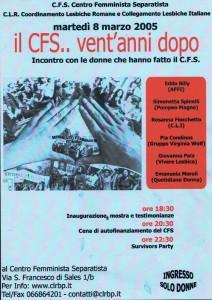 Cli lesbiche cfs separatismo herstory  femminismo luoghi donne storia gruppi Roma