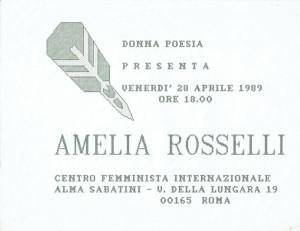 incontro amelia rosselli donna poesia buon pastore herstory  mappa luoghi storia gruppi femminismo Roma