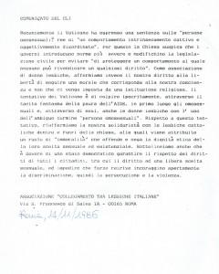 Collegamento lesbiche comunicato herstory  femminismo luoghi donne storia gruppi Roma