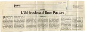 articolo donna ascolta donna buon pastore herstory  mappa luoghi storia gruppi femminismo Roma