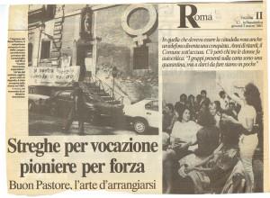 assemblea buon pastore Centro Femminista sabatini herstory  luoghi donne storia gruppi Roma repubblica
