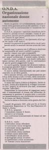 documento onda Organizzazione Nazionale Donne Autonome herstory  mappa luoghi storia gruppi Roma