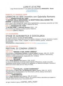 Luna e le Altre iniziativa herstory  femministe  luoghi donne storia collettivi manifestazioni gruppi Roma