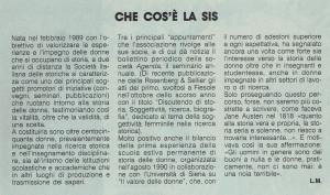 Società italiana storiche attività noidonne herstory  femminismo luoghi donne storia gruppi Roma