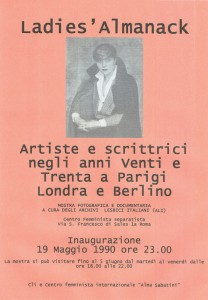 Cli lesbiche mostra giovanna olivieri herstory  femminismo luoghi donne storia gruppi Roma