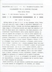 Collegamento lesbiche italiane herstory  femminismo luoghi donne storia gruppi Roma