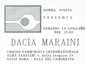 incontro maraini donna poesia buon pastore sherstory  mappa luoghi storia gruppi femminismo Roma