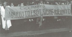 manifestazione striscione  Centro Femminista sabatini herstory  luoghi donne storia gruppi Roma