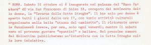 bollettino cli collegamento lesbiche italiane herstory  luoghi donne storia gruppi Roma