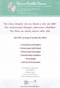 locandina donna ascolta donna buon pastore herstory  mappa luoghi storia gruppi femminismo Roma