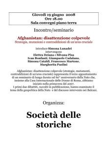 Società italiana storiche volantino seminario herstory  femminismo luoghi donne storia gruppi Roma