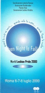 world pride coordinamento lesbiche romane CFS herstory  luoghi collettivi gruppi donne Roma