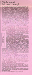 22 manifestazione prima parola articolo herstory  femminismo lesbiche  luoghi donne collettivi gruppi Roma