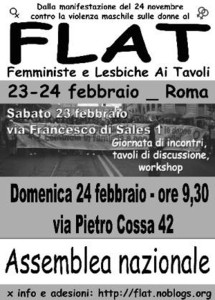 22 volantino flat herstory  femminismo lesbiche  luoghi donne collettivi gruppi Roma